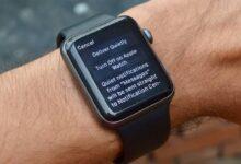خاموش کردن نوتیفیکیشن ها در اپل واچ