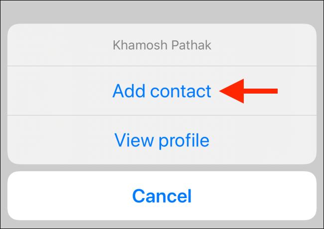گزینه Add Contact اسکایپ