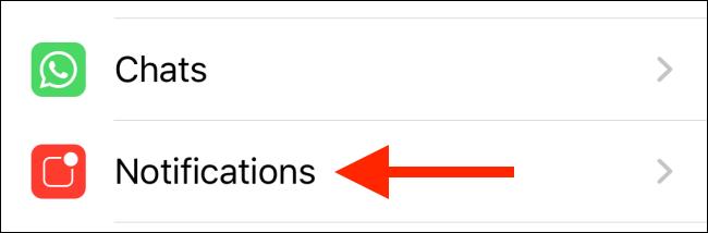 تنظیمات نوتیفیکیشن واتساپ در آیفون