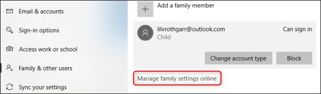 روش مدیریت بخش کنترل والدین ویندوز 10