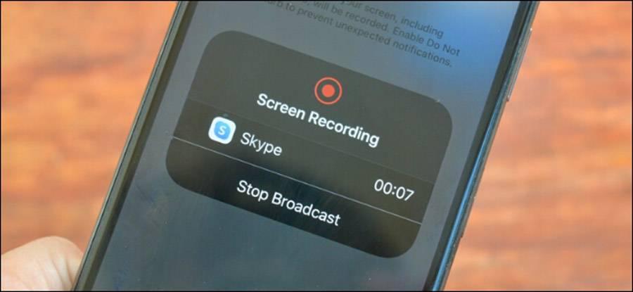 تصویر روش اشتراک گذاری صفحه نمایش آیفون و اندروید با اسکایپ