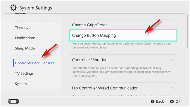 Change Button Mapping در نینتندو سئیچ