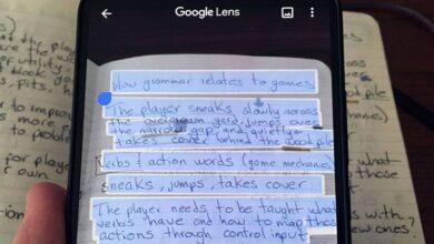 کپی کردن متن دست نویس با Google Lens و انتقال آن از گوشی هوشمند به رایانه