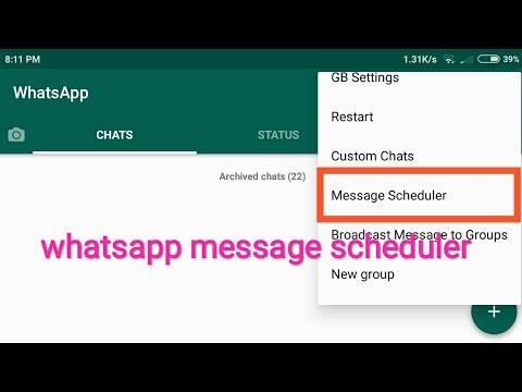 ویژگی Message Scheduler در جی بی واتساپ