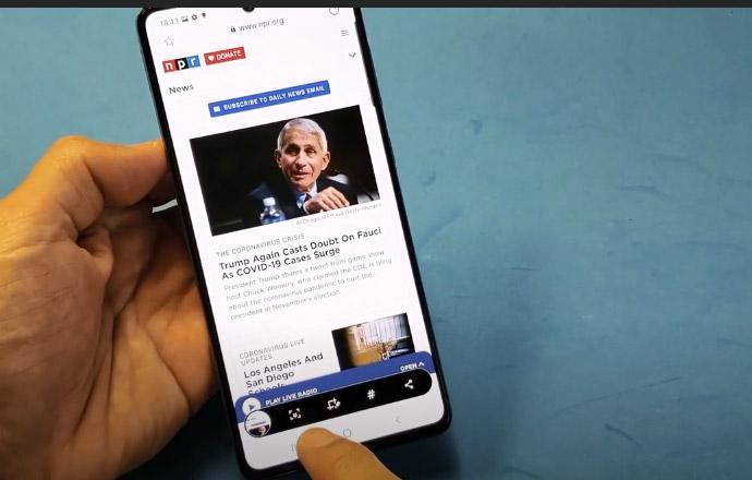 روش گرفتن اسکرین شات بلند در گوشی گلکسی A71