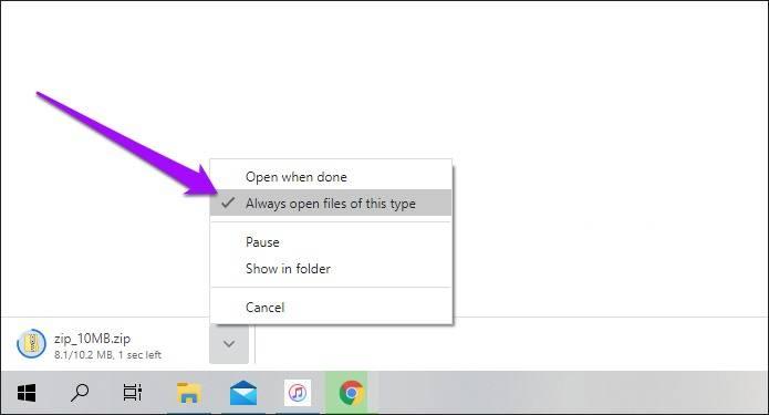 روش جلوگیری از باز شدن خودکار فایل های دانلودی در کروم