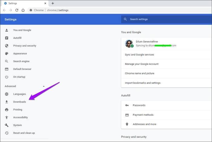 غیرفعال کردن کامل باز شدن خودکار فایل های دانلودی در کروم