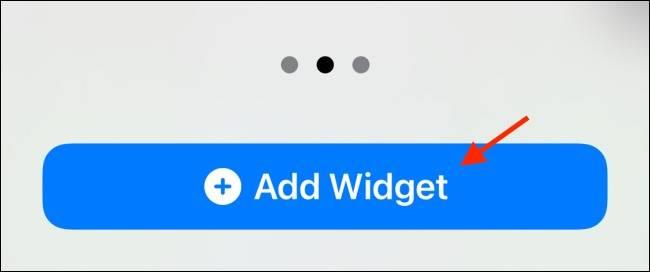 دکمه Add Widget آیفون