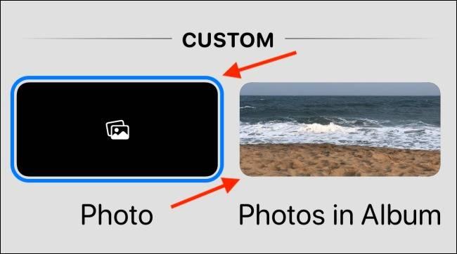 گزینه Photos و Photos in Album برنامه widgetsmith