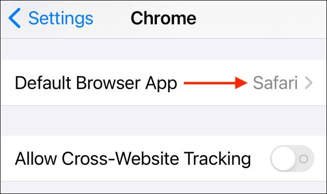 گزینه Default Browser App در iOS 14