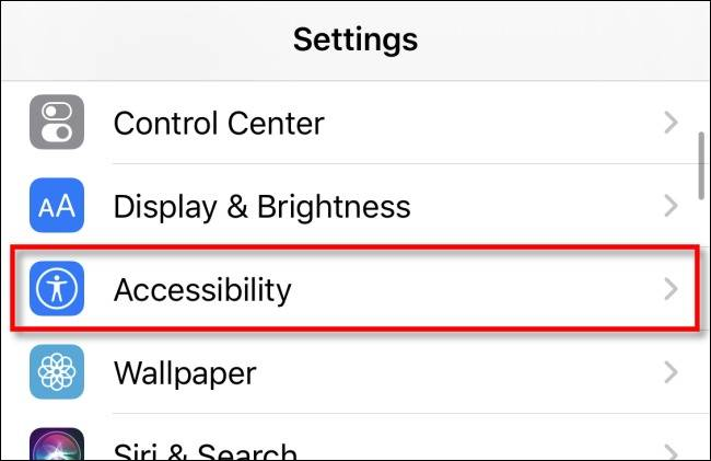 Accessibility آیفون