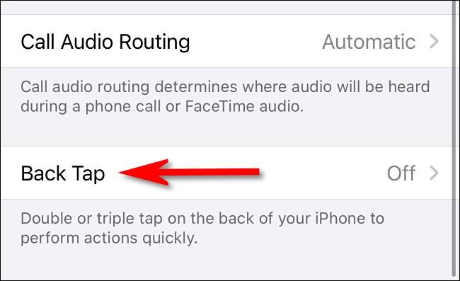 گزینه Back Tap در iOS 14
