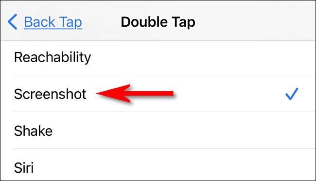 روش اسکرین شات گرفتن آیفون با تپیدن پشت آن در iOS 14