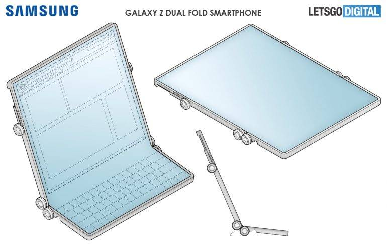 Samsung Galaxy Z Dual Fold Smartphone Doubles as a Tablet