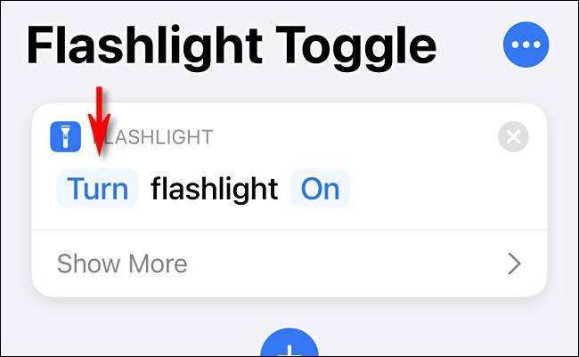 Turn flashlight on
