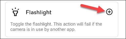 دسته Utilities گزینه Flashlight برنامه تپ تپ