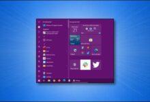 تصویر تغییر رنگ منوی استارت ویندوز 10 به رنگ دلخواه در بخش تنظیمات