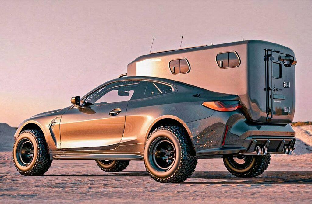 BMW M4 Gets Transformed Into an Off-Road Camper