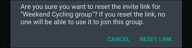 ریست کردن لینک عضویت همگانی گروه واتساپ