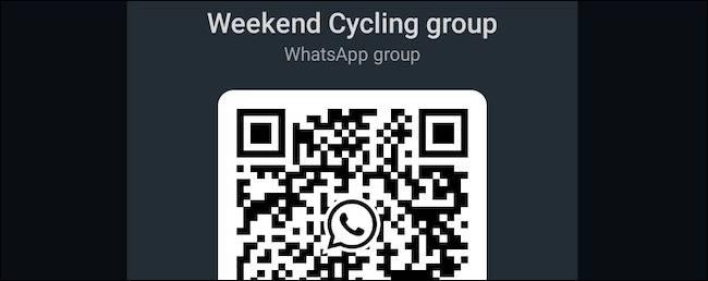 گزینه QR code یا کد QR گروه واتساپ