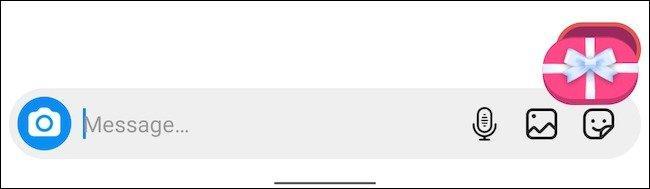 نمایش جلوه های ویژ دایرکت اینستاگرام در گوشی مخاطب