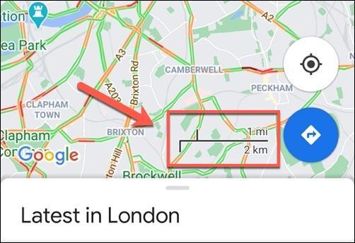 دکمه Navigation یا ناوبری گوگل مپ