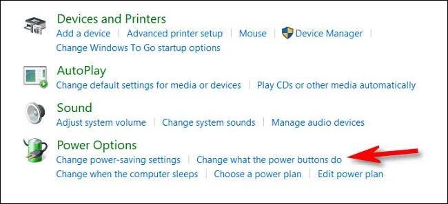 گزینه Change what the power buttonsd ویندوز  | غیرفعال کردن دکمه پاور کامپیوتر در ویندوز 10