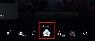 بخش Control Center پلی استیشن و انتخاب گزینه Sound