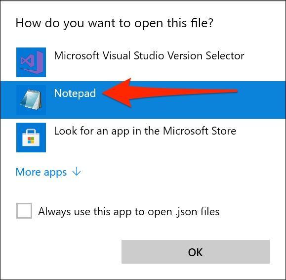 باز کردن فایل تنظیمات ترمینال ویندوز در Notepad