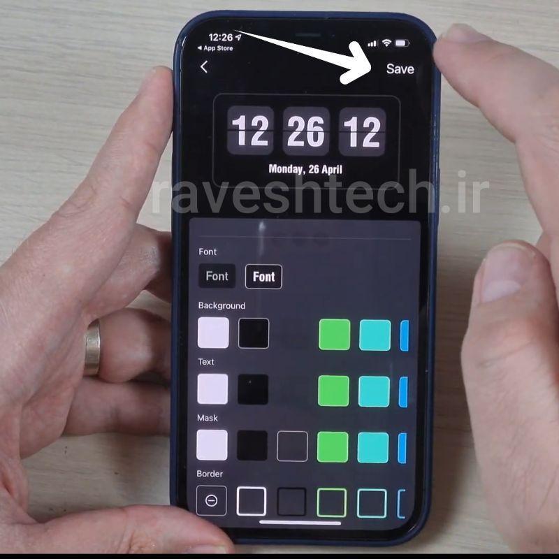تغییر فون و رنگ فونت برنامه DClock