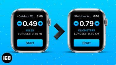 روش تغییر مایل به کیلومتر در آیفون و اپل واچ با استفاده از برنامه Health و Watch