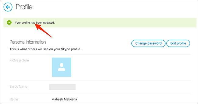 تغییر نام در اسکایپ