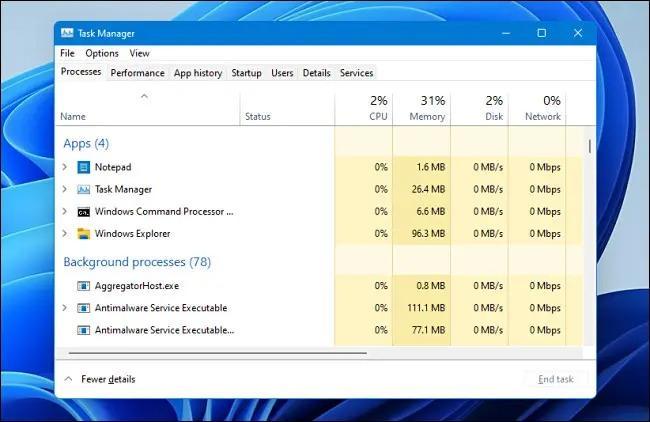 باز کردن تسک منیجر در ویندوز 11 با 6 شیوه متفاوت