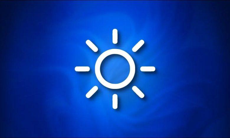 تنظیم روشنایی صفحه نمایش در ویندوز 11 از بخش Quick Settings و Settings